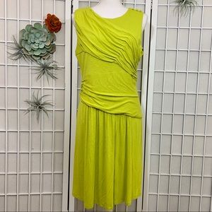 Vince Camuto Chartreuse Jersey Fit and Flare